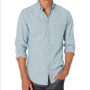 J Crew Slim Stretch organic cotton chambray shirt